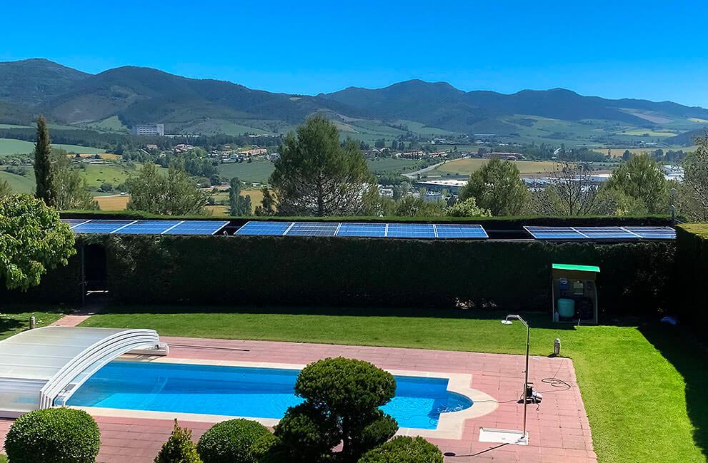 Instalación fotovoltaica en unifamiliar en Pamplona
