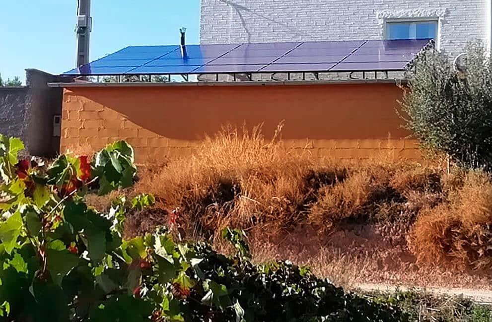 Instalación fotovoltaica en vivienda en Cadrete