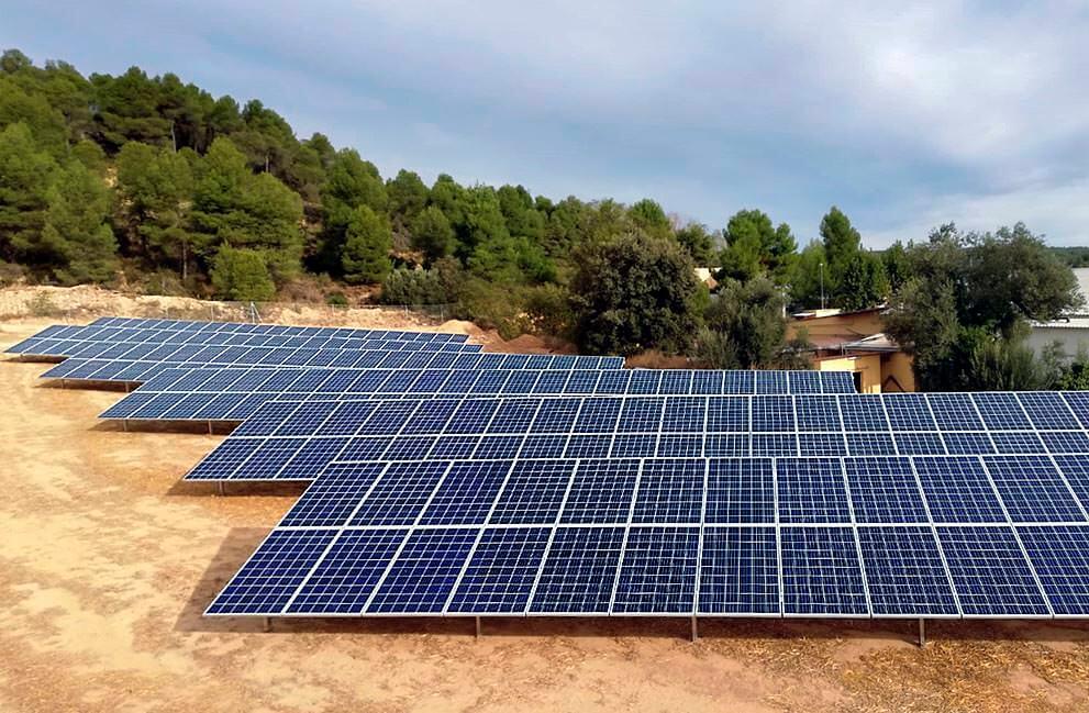 Instalación fotovoltaica para bombeo de agua en Alcañiz