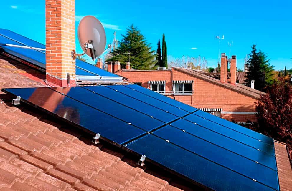 Instalación placas solares en vivienda de Madrid 2