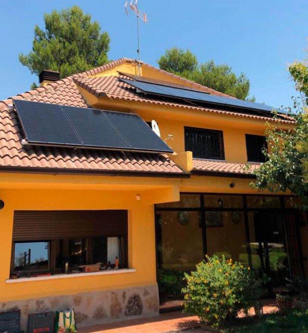 Instalación placas solares en vivienda en Madrid
