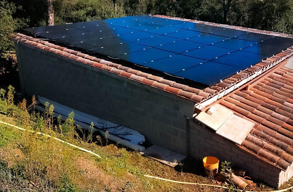 Instalación fotovoltaica en Sant Pere de Vilamajor