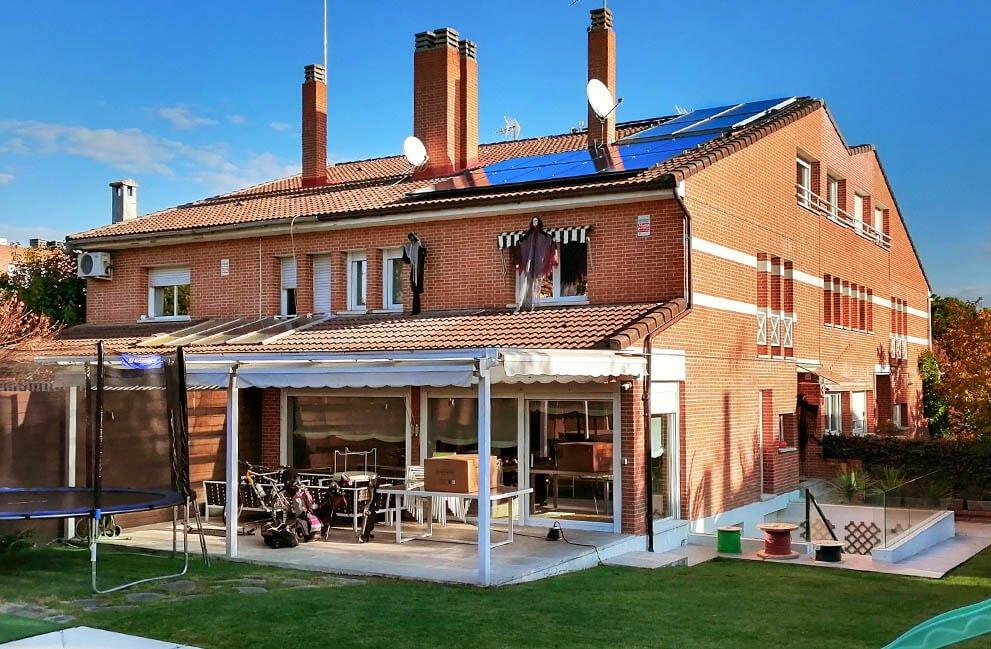 Instalación placas solares en vivienda de Madrid
